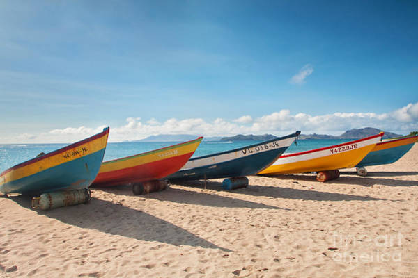 St Kitts Photograph - Caribbean Fishing Boats On The Beach by Katherine Gendreau