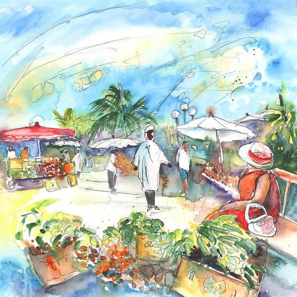 Painting - Caribbean Market by Miki De Goodaboom