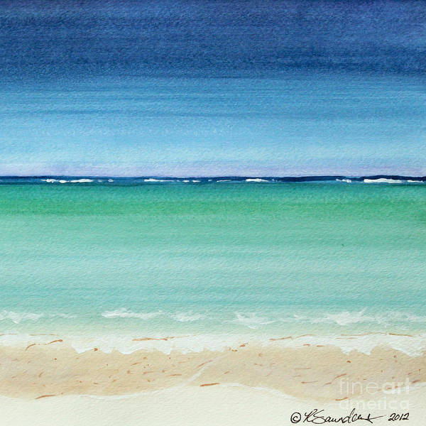 Reaf Ocean Turquoise Waters Square Art Print