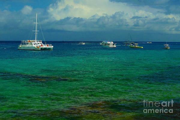 Caribbean Snorkelling Boats Art Print by Rachel Duchesne
