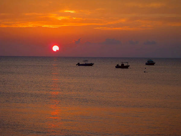 Key Biscayne Photograph - Caribbean Sunset by Carey Chen