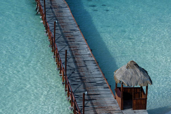 Caribbean Photograph - Caribbean Water And Bridge by Luis Javier Sandoval