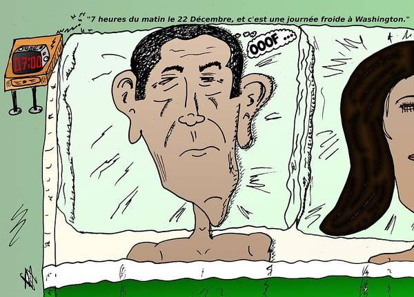 Ant Mixed Media - Caricature De Obama Apres Le Calendrier Maya Fini by OptionsClick BlogArt