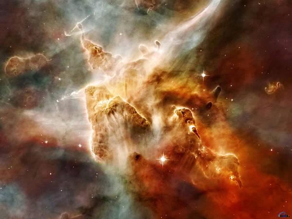 Sombrero Painting - Carina Nebula by Celestial Images
