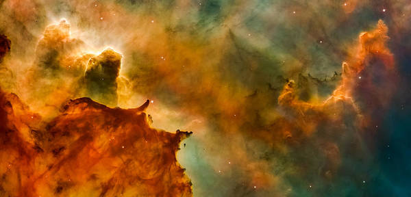 Infrared Radiation Photograph - Carina Nebula Details - Great Clouds by Marco Oliveira