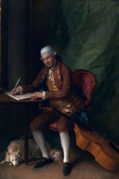 Compose Wall Art - Painting - Carl Friedrich Abel, C.1777 by Thomas Gainsborough