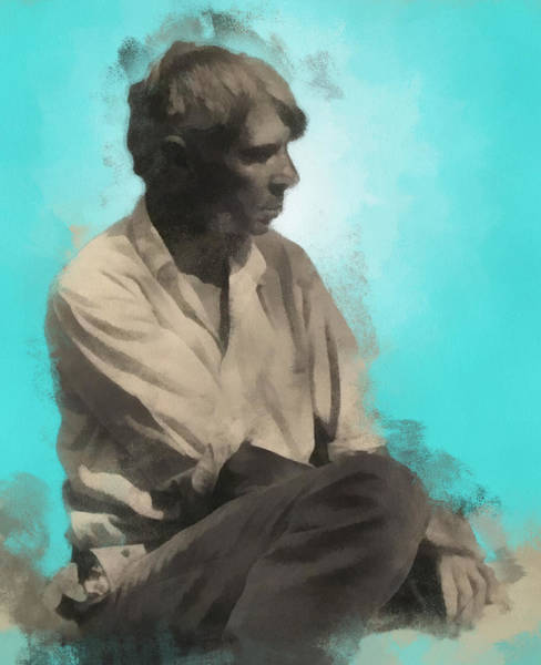 Digital Art - Carl Sandburg by Paulette B Wright