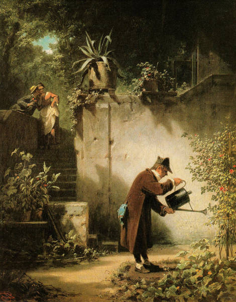 Wall Art - Painting - Carl Spitzweg Der Blumenfreund by MotionAge Designs
