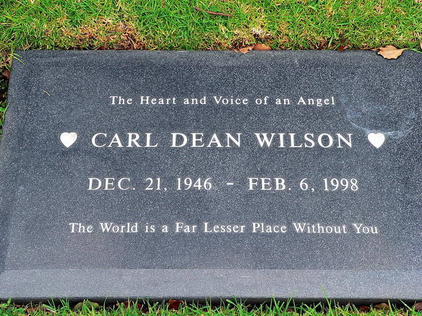 Photograph - Carl Wilson Grave by Jeff Lowe