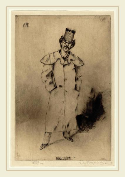 Wall Art - Drawing - Carlo Pellegrini Italian, 1839-1889, Whistler by Litz Collection