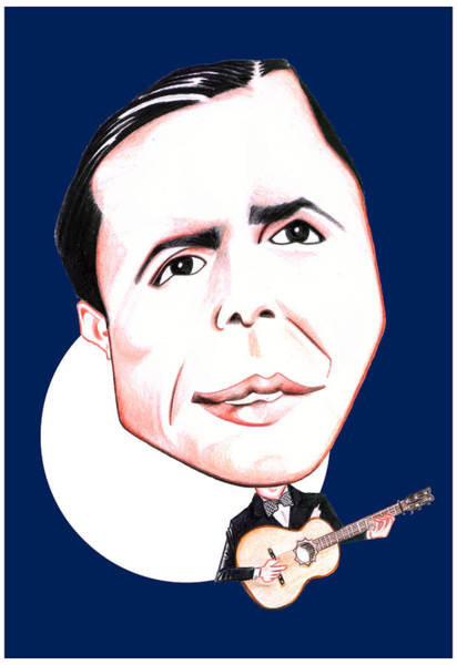 2x4 Wall Art - Drawing - Carlos Gardel Illustration by Diego Abelenda