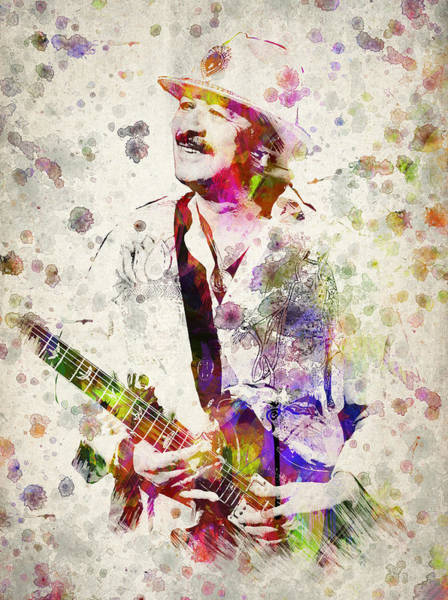 Wall Art - Digital Art - Carlos Santana by Aged Pixel