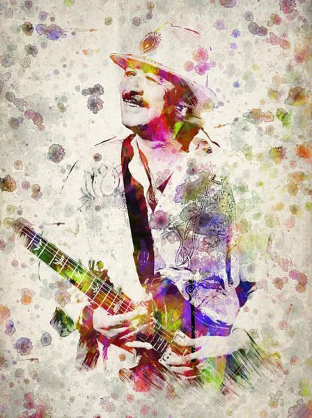 Wall Art - Digital Art - Carlos Santana by Aged Pixel