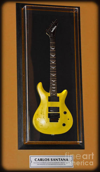 Photograph - Carlos Santana's Guitar by Gary Keesler