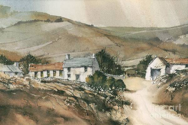 Mixed Media - Carlow  Blackstairs Mountains by Roland Byrne