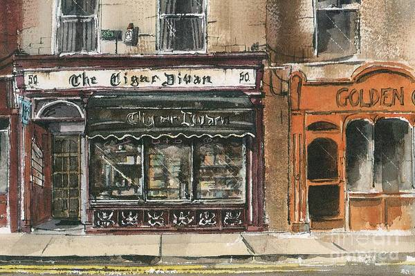 Mixed Media - Carlow The Cigar Divan by Roland Byrne