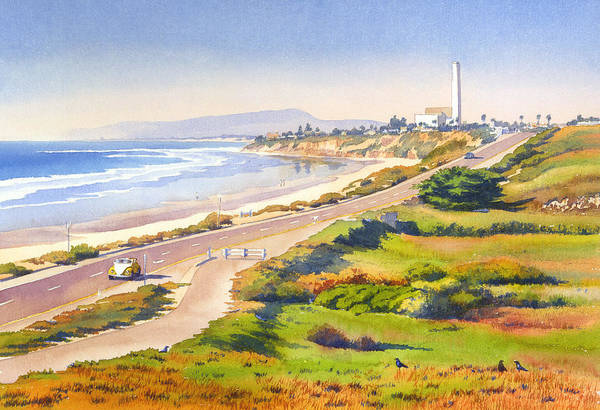 Pacific Painting - Carlsbad Rt 101 by Mary Helmreich