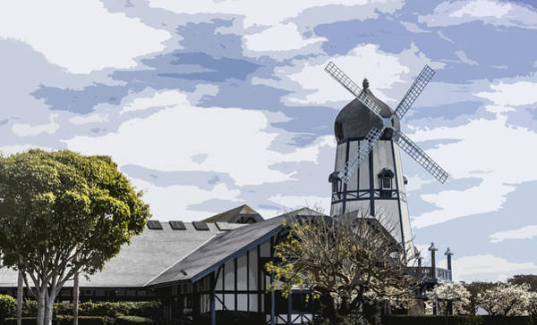 Digital Art - Carlsbad Windmill by Photographic Art by Russel Ray Photos