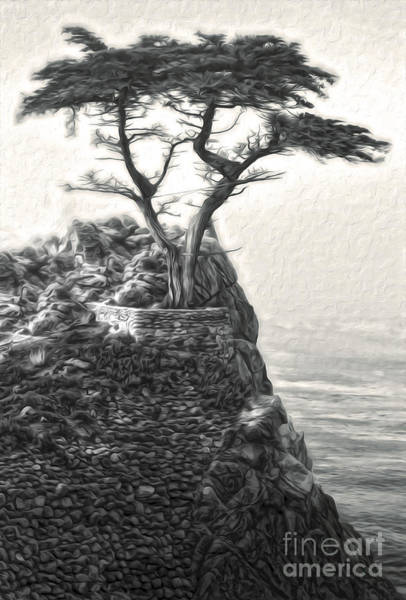 Painting - Carmel California - Lone Pine - 03 by Gregory Dyer