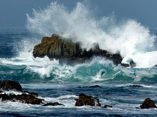 Photograph - Carmel Crashing Waves by Jeff Lowe