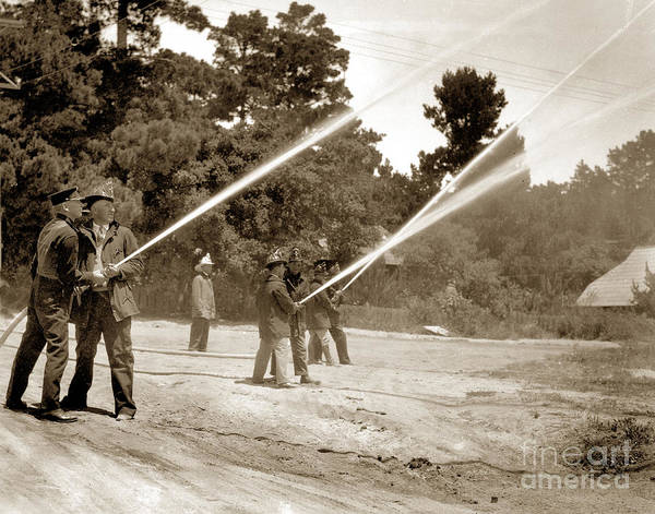 Photograph - Carmel Fire Department California Circa 1930 by California Views Archives Mr Pat Hathaway Archives
