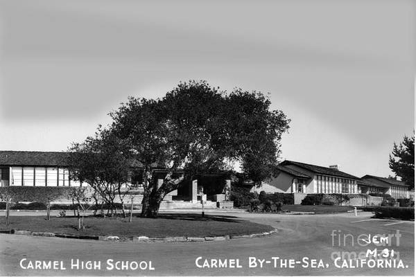 Photograph - Carmel High School Carmel By The Sea Circa 1955 by California Views Archives Mr Pat Hathaway Archives