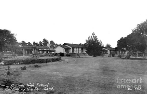 Photograph - Carmel High School Carmel California Circa 1950 by California Views Archives Mr Pat Hathaway Archives