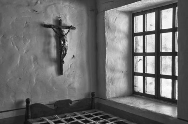 Carmel Mission Photograph - Carmel Mission 4 Bw by Ron White