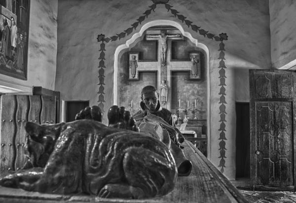 Photograph - Carmel Mission 5 Bw by Ron White