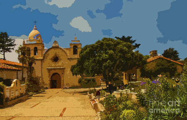 Wall Art - Digital Art - Carmel Mission by Anthony Forster