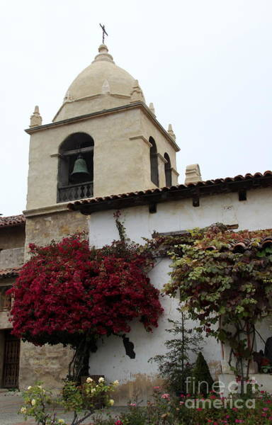 Misson Photograph - Carmel Mission Bell Tower by Christiane Schulze Art And Photography