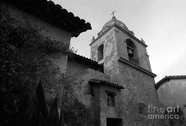 Photograph - Carmel Mission Bell Tower by James B Toy