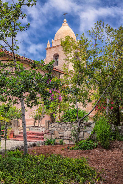 Photograph - Carmel Mission Bell Tower by Thomas Hall