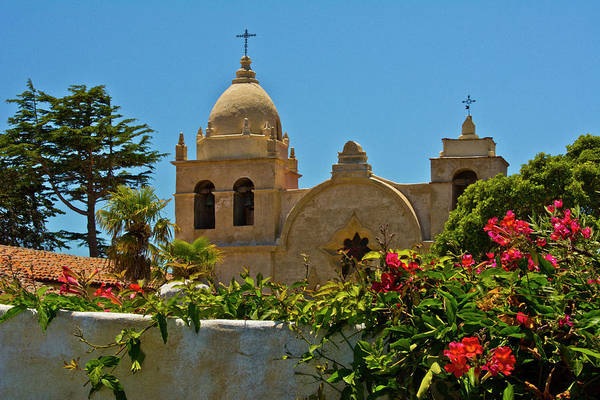 Carmel Mission Photograph - Carmel Mission, Carmel, California, Usa by Michel Hersen