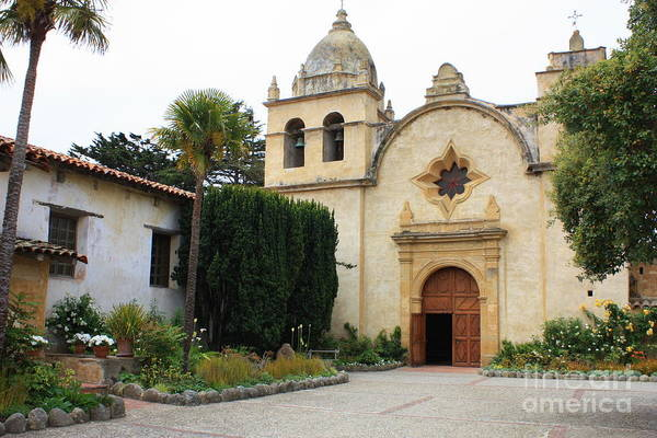 California Mission Photograph - Carmel Mission Church by Carol Groenen