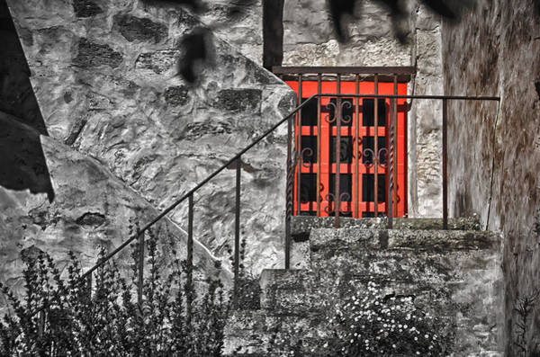 Photograph - Carmel Mission Red Door by Ron White