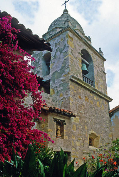 Carmel Mission Photograph - Carmel Mission Tower by Kathy Yates