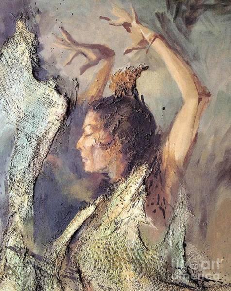 Gitana Wall Art - Painting - Carmen Amaya Vi by Zaafra David
