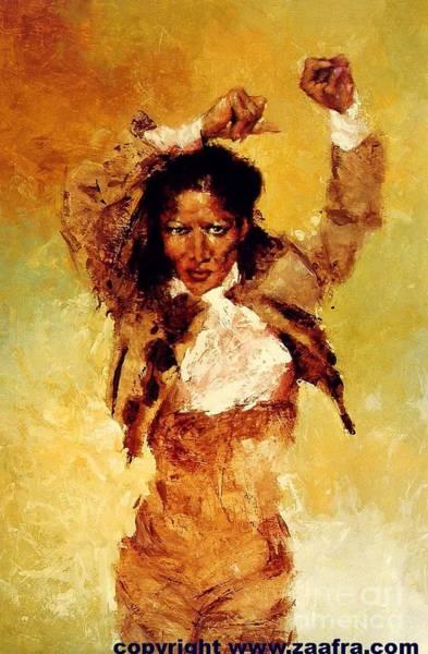 Gitana Wall Art - Painting - Carmen Amaya by Zaafra David