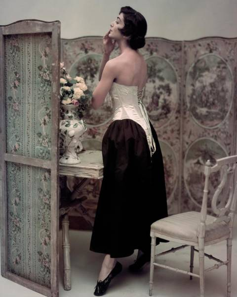 Photograph - Carmen Dell'orefice Posing by John Rawlings