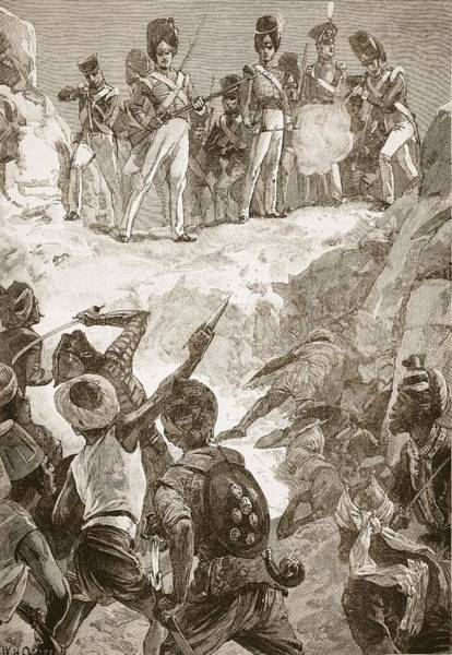 Shooting Drawing - Carmichaels Followers Fired by William Heysham Overend
