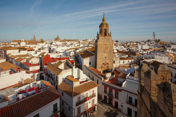 Welsh Church Wall Art - Photograph - Carmona, Spain. High View Of Rooftops by Ken Welsh