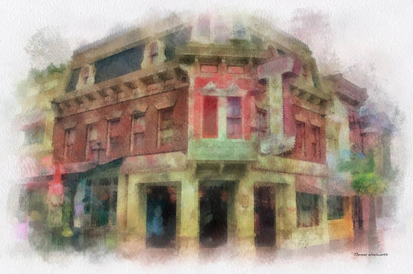 Clothier Photograph - Carnation Cafe Main Street Disneyland Photo Art 01 by Thomas Woolworth