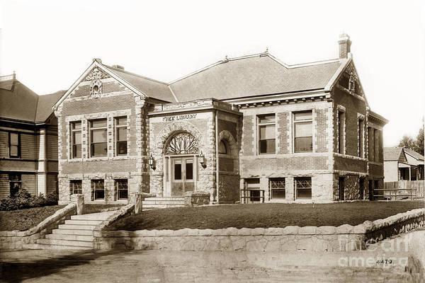 Photograph - Carnegie Library 696 Monterey Street San Luis Obispo California Circa 1907 by California Views Archives Mr Pat Hathaway Archives