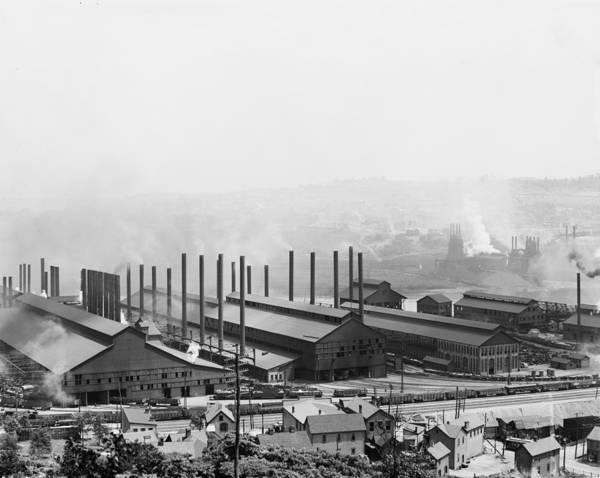 Photograph - Carnegie Steel Mill, C1905 by Granger