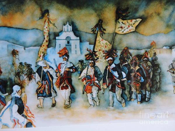 Carneval En Chiapas Art Print