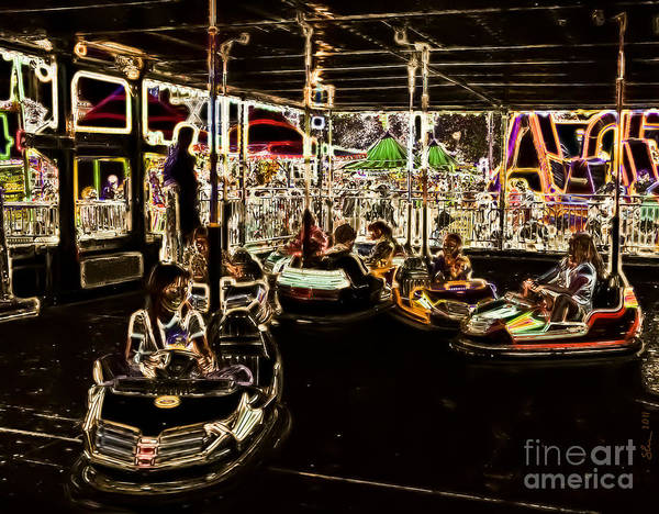Photograph - Carnival - Bumper Cars by Kathi Shotwell
