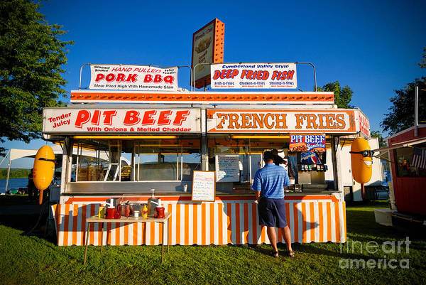 Carnies Photograph - Carnival Concession Stand by Amy Cicconi