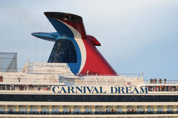 Photograph - Carnival Dream Smokestack by Bradford Martin