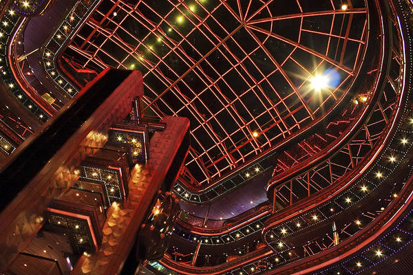 Photograph - Carnival Elation Atrium At Night by Jason Politte